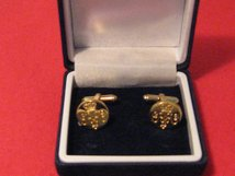 GRENADIER GUARDS GILT PAIR OF BOXED CUFFLINKS