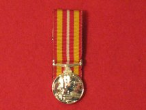 MINIATURE COURT MOUNTED VOLUNTARY MEDICAL SERVICE MEDAL