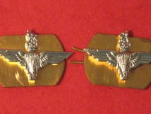 PARACHUTE REGIMENT MILITARY COLLAR BADGES