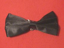 BLACK SILK BOW TIE READY MADE