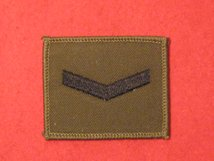 LCPL LANCE CORPORAL 1 BAR BADGE OLIVE GREEN SEW ON BADGE