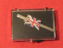 UNION JACK TIE CLIP SLIDE BAR WITH BOX