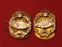 ROYAL TANK REGIMENT RTR MILITARY COLLAR BADGES