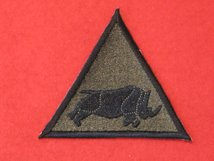 BRITISH ARMY 1 UK ARMOURED DIVISION FORMATION BADGE RHINO OLIVE GREEN