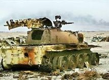 Iraqi Tank waiting for paint touchup !.