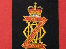 13TH 18TH ROYAL HUSSARS BLAZER BADGE