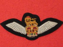 NUMBER 1 DRESS ARMY AIR CORPS OFFICERS PILOTS WINGS BADGE GOLD THREAD