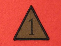 BRITISH ARMY 1ST ARMOURED INFANTRY BRIGADE BADGE AKA 1 MECH TRIANGLE GREEN