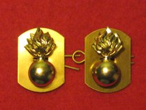 LANCASHIRE FUSILIERS MILITARY COLLAR BADGES