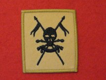 TACTICAL RECOGNITION FLASH BADGE QUEENS ROYAL LANCERS BUFF TRF BADGE