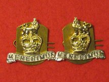 15TH 19TH KINGS ROYAL HUSSARS MILITARY COLLAR BADGES