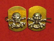 17TH 21ST LANCERS MILITARY COLLAR BADGES