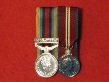 MINIATURE COURT MOUNTED OSM AFGHANISTAN WITH CLASP MEDAL AND DIAMOND JUBILEE MEDAL