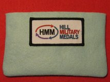 FULL SIZE MEDAL POUCH ICE BLUE 3-4 MEDAL BAG