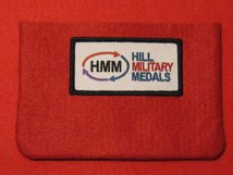 FULL SIZE MEDAL POUCH SCARLET RED 3-4 MEDAL BAG
