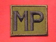 TACTICAL RECOGNITION FLASH BADGE MP ON GREEN TRF BADGE
