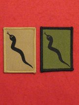 BRITISH ARMY 101 LOGISTIC BRIGADE FORMATION BADGES SET OF 2 GREEN AND BUFF