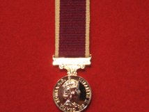 MINIATURE ARMY LSGC MEDAL LONG SERVICE GOOD CONDUCT MEDAL EIIR